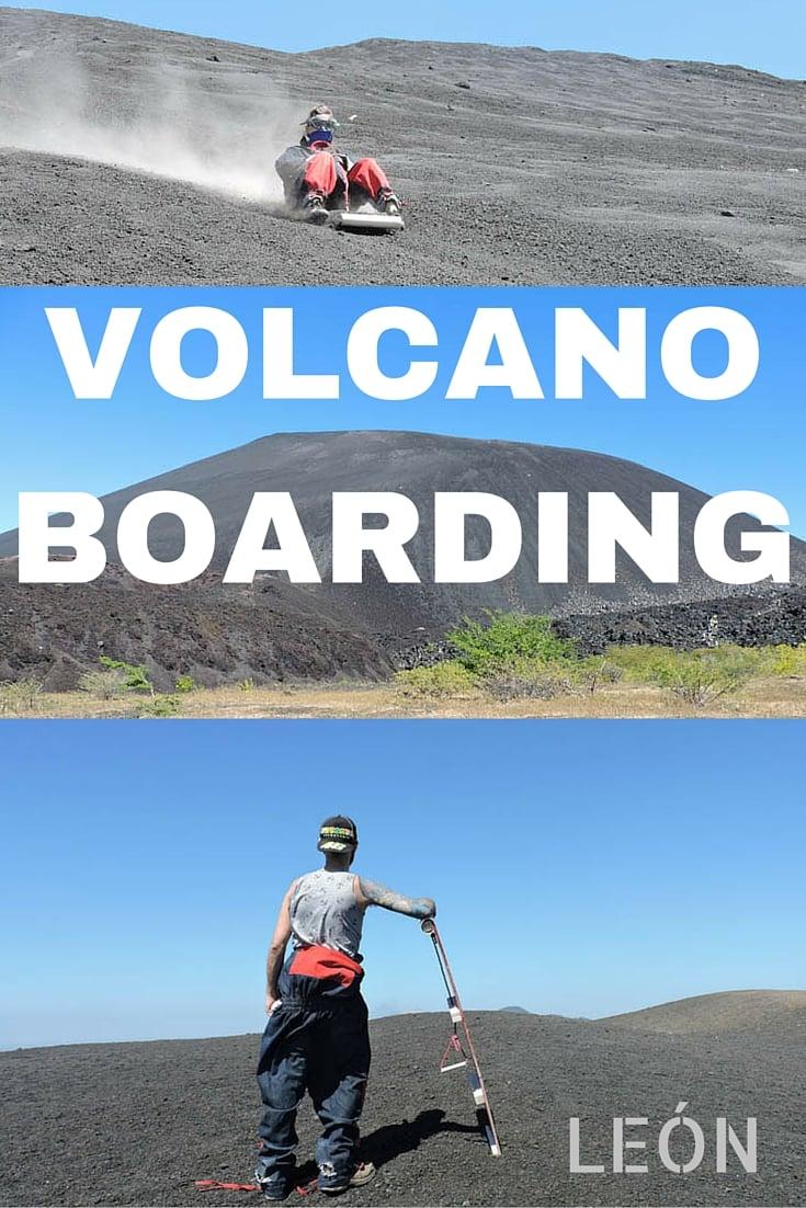 Volcano Boarding, Leon Nicaragua